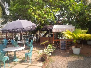 The Garden Cafe at the Fort Tiracol Heritage Hotel