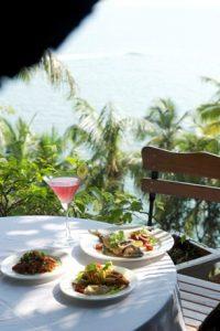 The Garden Cafe Tiracol cosmopolitan and seafood