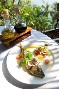 Fresh seafood on Offer at The Garden Cafe at the Fort Tiracol Heritage Hotel