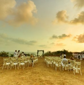 Outdoor Wedding Prep at Fort Tiracol