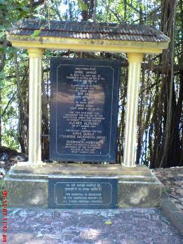 the Plaque Saluting Martyrs Goa freedom independence day