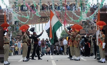 Independence day Celebrations on the Wagah Border India and Pakistan