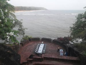 Seaside event Setting at the Fort Tiracol