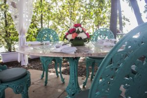Wedding event Setting at  the Garden Cafe at the Fort Tiracol Heritage Hotel